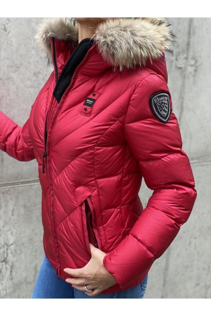 Dámská péřová bunda Blauer 21WBLDC03042 červená
