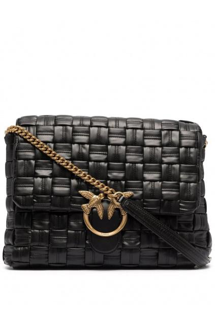 Dámská kabelka Pinko Love Puff Weave Cl černá