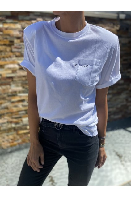 Dámské tričko Pinko Tianamen bílé