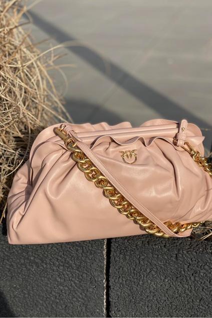 Dámská kabelka Pinko Chain Clutch Framed 1 Cl béžová