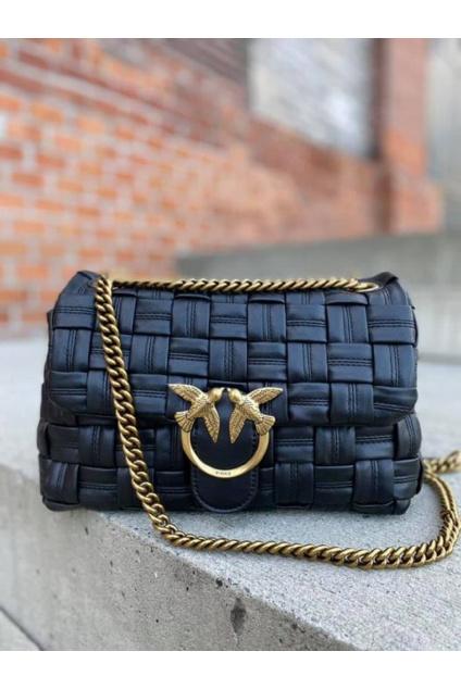 Dámská kabelka Pinko Love Classic Puff Weave Cl černá