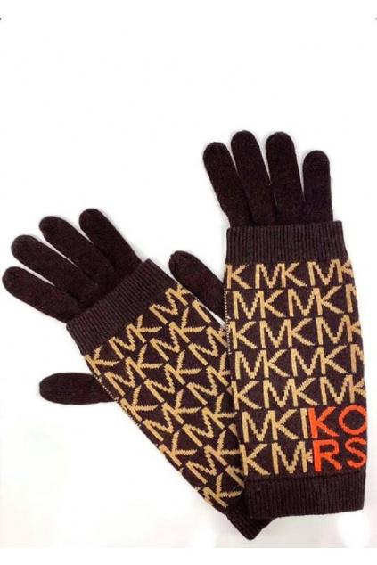 Dámské rukavice Michael Kors MF1000H46G hnědé