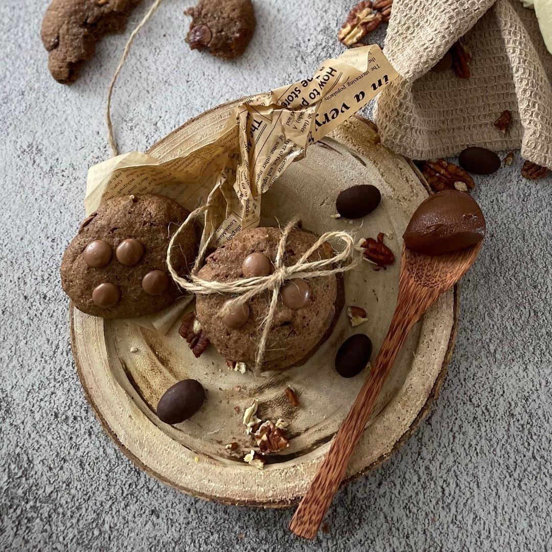 Cookies plné vanilky a pekanových ořechů