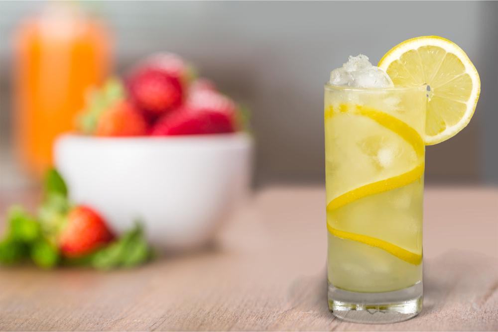 Ledová limonáda s vanilkou