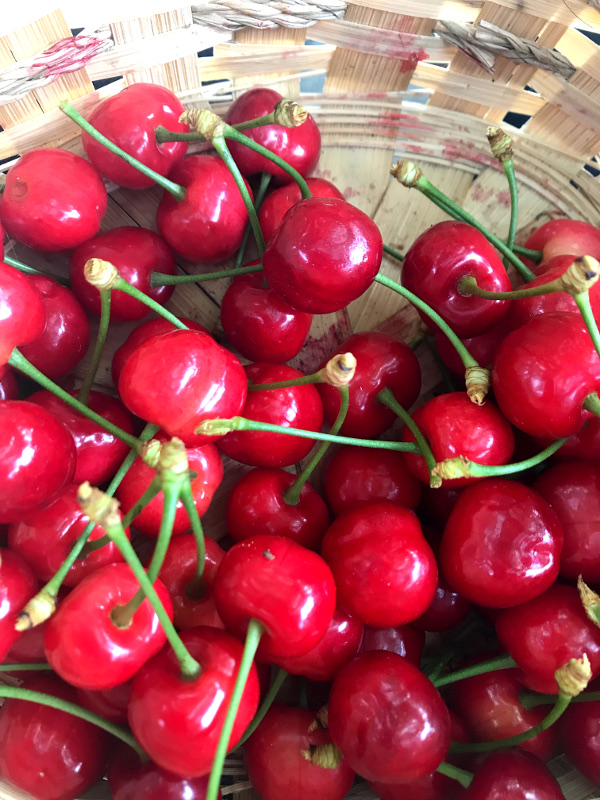 Bublanina s vanilkou a třešněmi