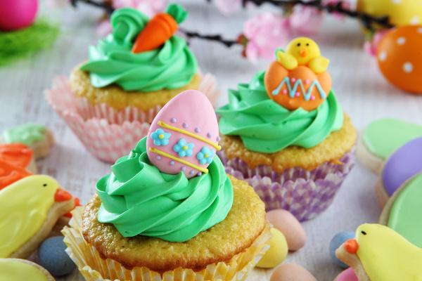 Velikonoční vanilkové dortíky