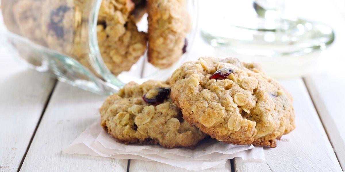 Vanilkové sušenky s vločkami, cuketou a mrkví