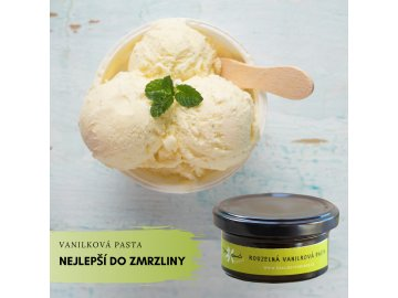 vanilková pasta zmrzlina