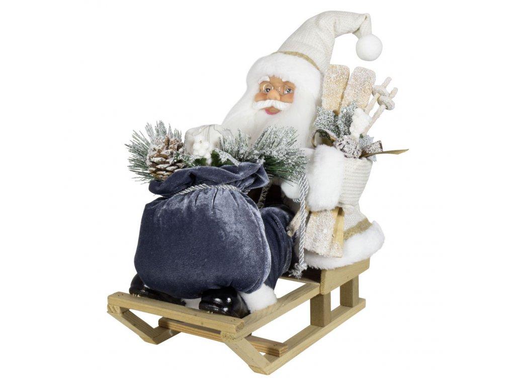 39102 Weihnachtsmann 45cm auf Schlitten 1