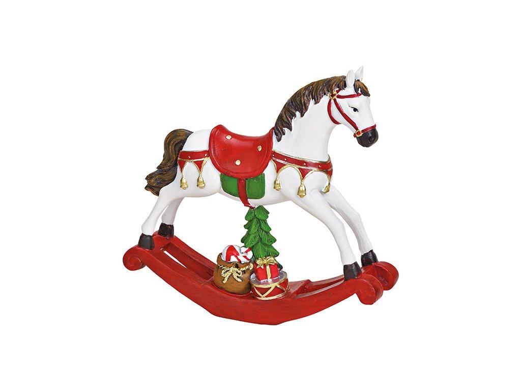 Vánoční dekorace Houpací kůň 17 cm