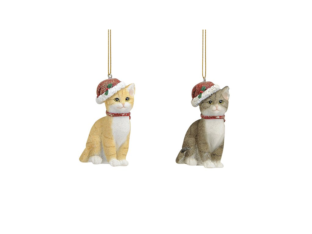 Ozdoba na stromeček Kočka 9 cm