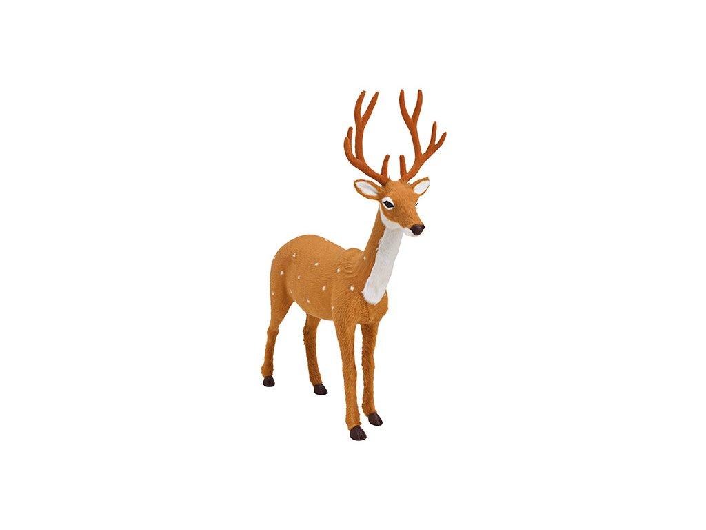 Vánoční dekorace Jelen hnědý 45 cm