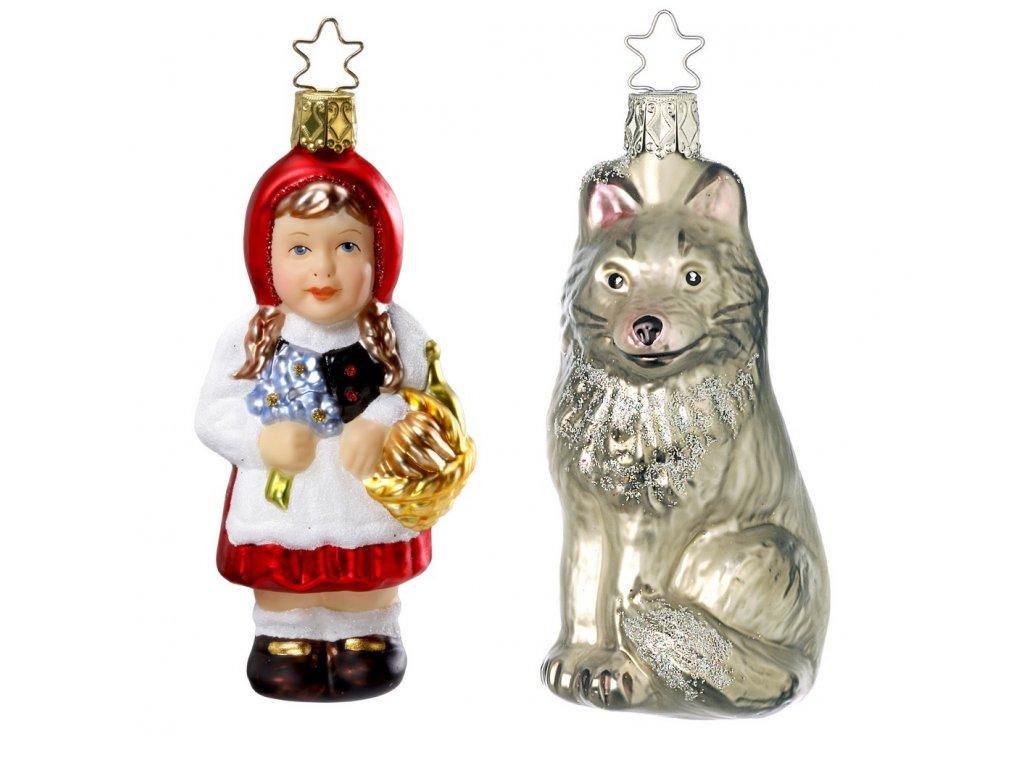 cervena karkulka a vlk ozdoba