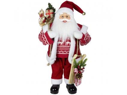 Vánoční dekorace Ježíšek Santa s dárky 30 cm