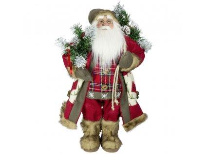 Vánoční dekorace Santa Ježíšek v dlouhém kabátku 60 cm