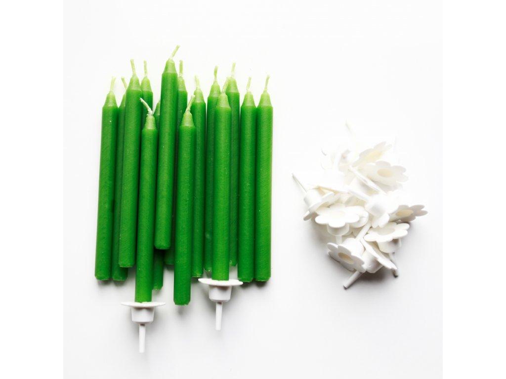 Tmavō zelenā dortovā stoj†nek