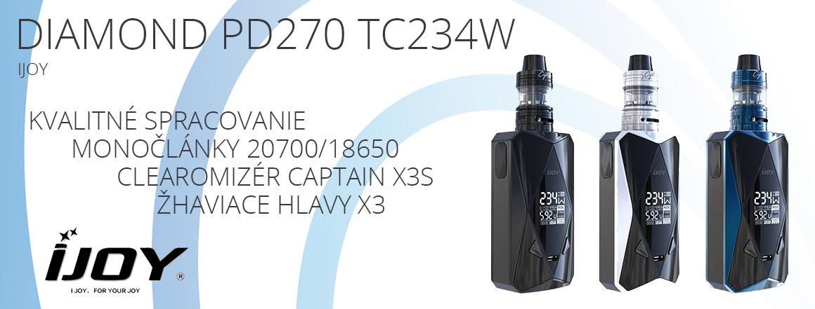 IJOY Diamond PD270 TC234W 6000mAh s Captain X3S