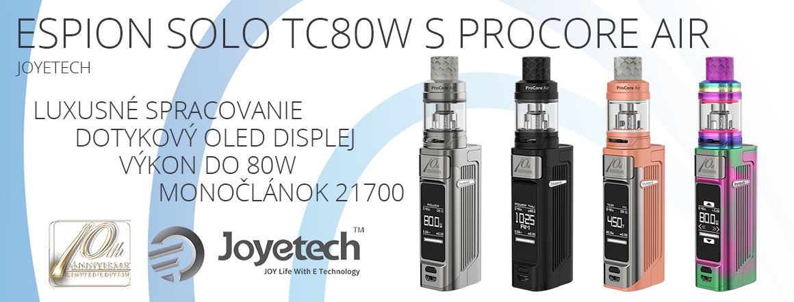 Joyetech ESPION Solo TC80W 4000mAh s ProCore Air