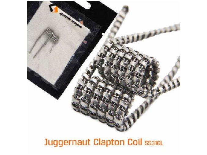 vyr 7884Juggernaut Clapton Coil SS316L 8 12