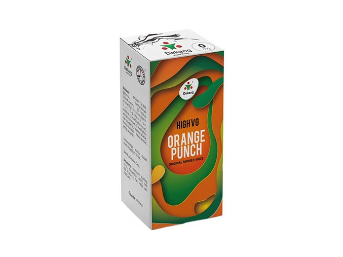 liquid dekang high vg orange punch 10ml 0mg sladky pomeranc