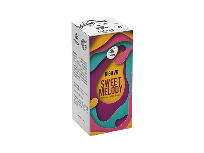 liquid dekang high vg sweet melody 10ml 0mg broskev s citronem