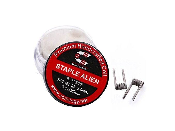 Coilology Staple Alien Coil SS316L