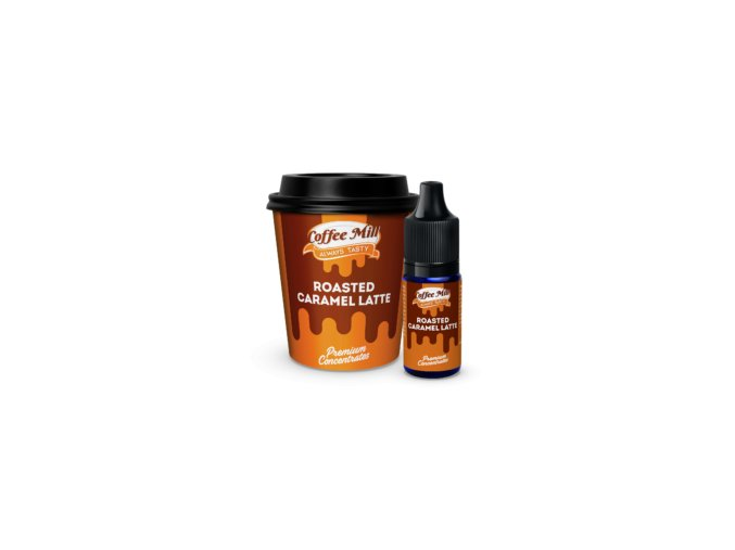 CoffeeMill Concentrates RoastedCaramelLatte Bottle and box 300x300