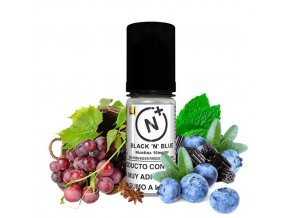 48746 7640 nicotine plus t juice black n blue 10ml