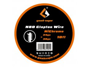 GeekVape drôt N80 Clapton Wire 24ga+36ga NiChrome