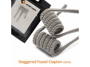 GeekVape cievka Staggered Fused Clapton Coil SS316L