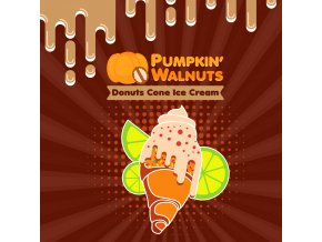 BM LIQUIDS PUMPKIN WALNUTS DONUTS CONE ICE CREAM