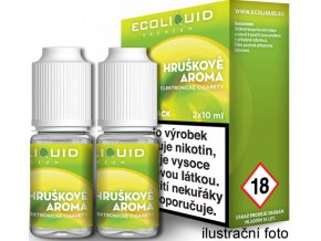 liquid ecoliquid premium 2pack pear 2x10ml 0mg hruska (1)