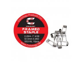 Coilology Framed Staple Coil SS316L