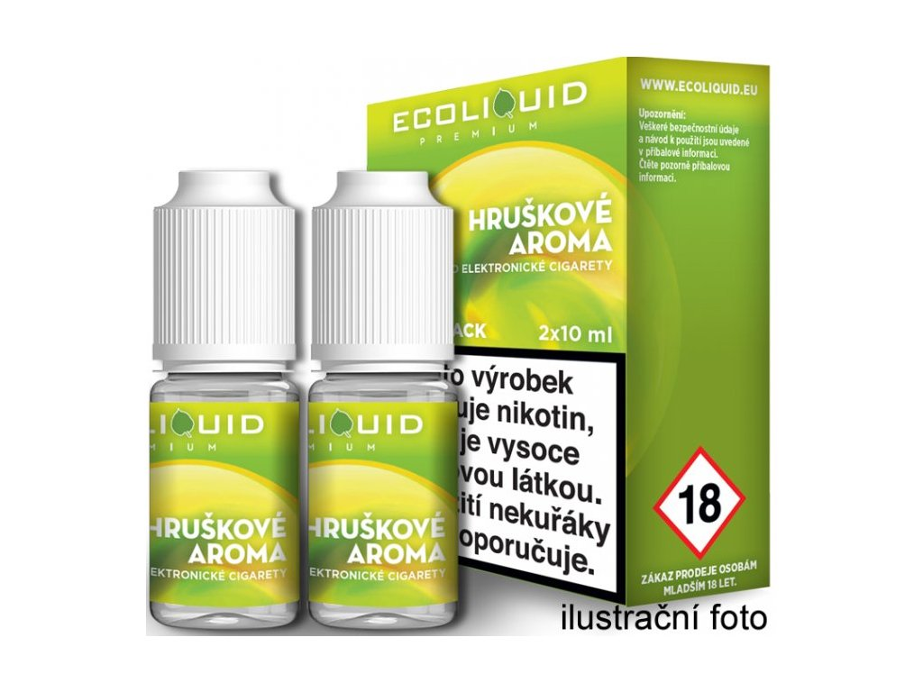 Liquid Ecoliquid Premium 2Pack Pear 2x10ml - 18mg (Hruška)