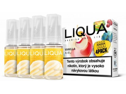 Liquid LIQUA CZ Elements 4Pack Vanilla 4x10ml-6mg (Vanilka)