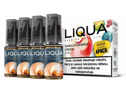 Liquid LIQUA CZ MIX 4Pack Vanilla Orange Cream 10ml-3mg
