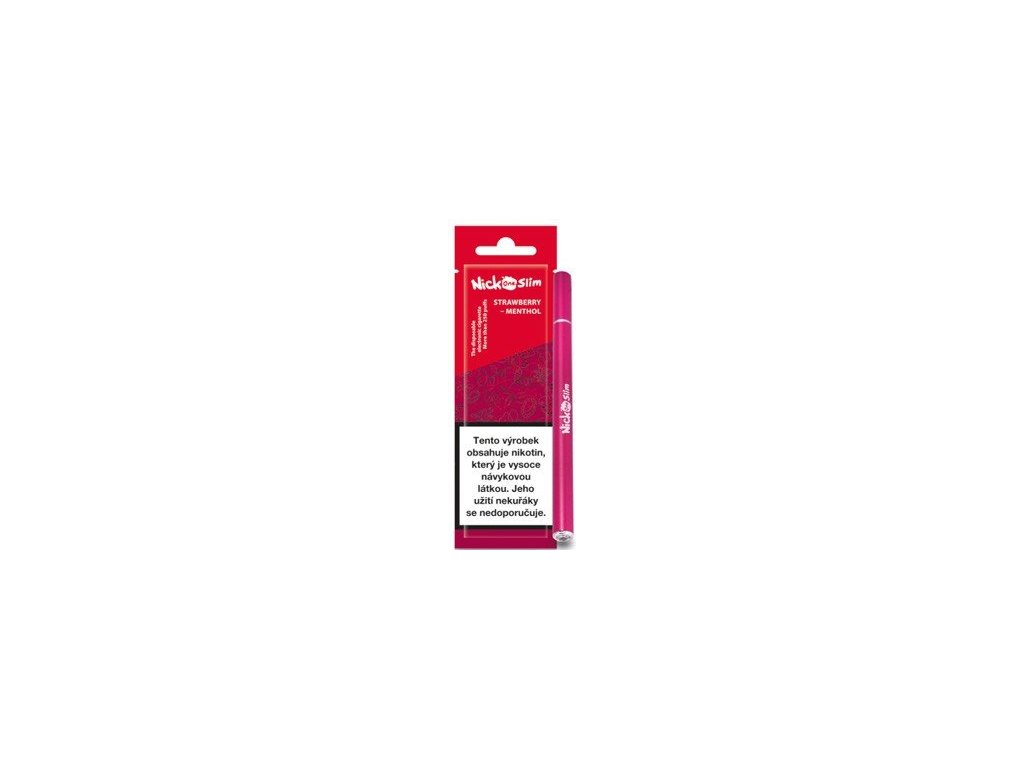 Nick One Slim elektronická cigareta Strawberry Menthol 16mg