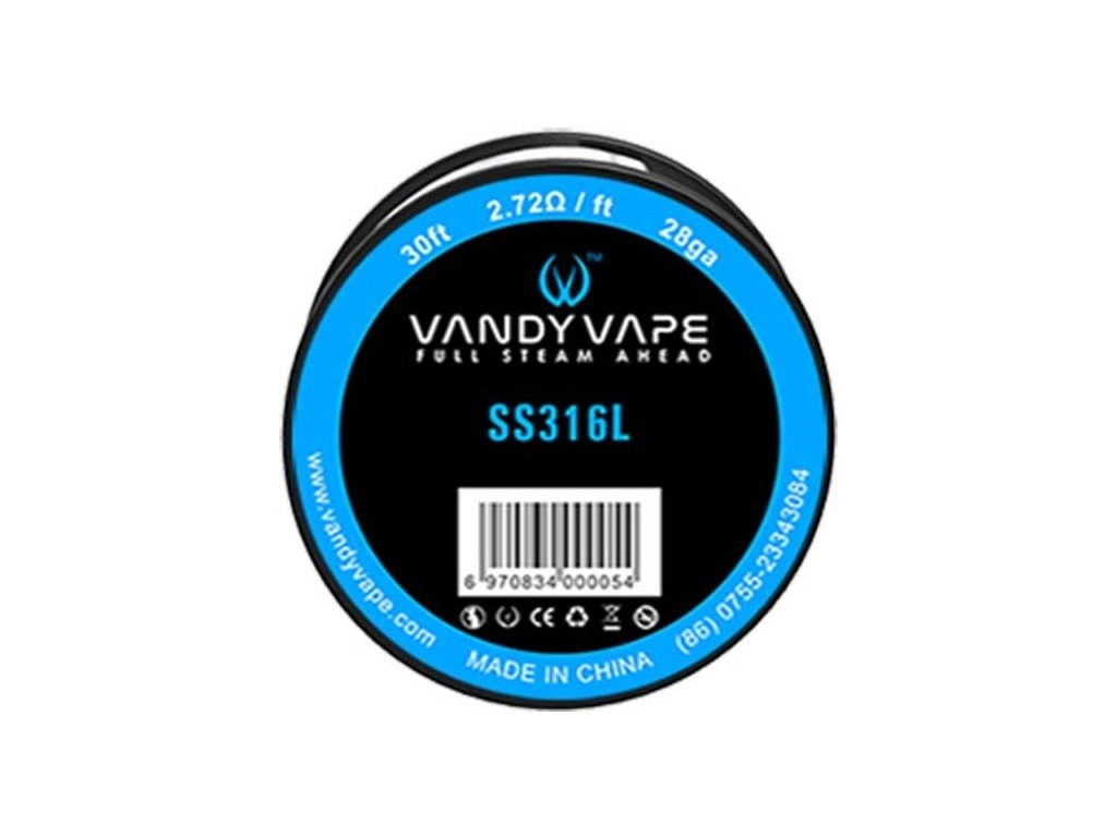 Vandy Vape SS316 odporový drát 28GA 9m