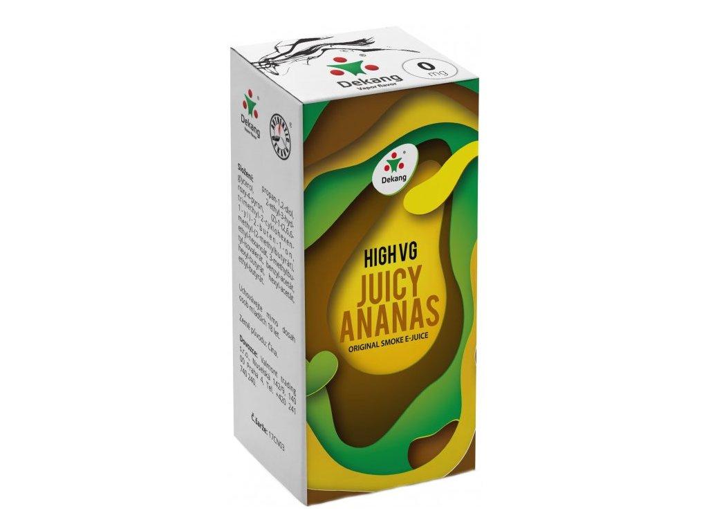 Liquid Dekang High VG Juicy Ananas (Šťavnatý ananas)