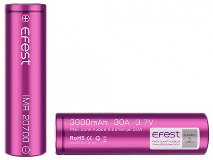 Efest baterie typ 20700 3100mAh 30A