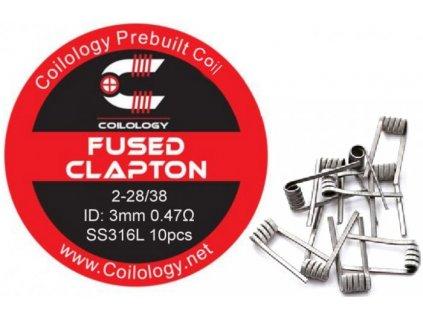 Coilology Fused Clapton předmotané spirálky SS316 0,47ohm 10ks