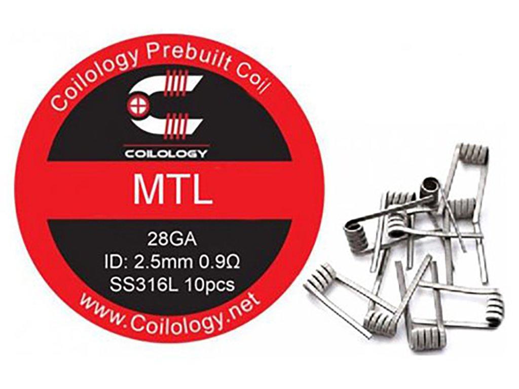 10145 1 predmotane spiralky coilology mtl ss316l 0 9ohm 10ks