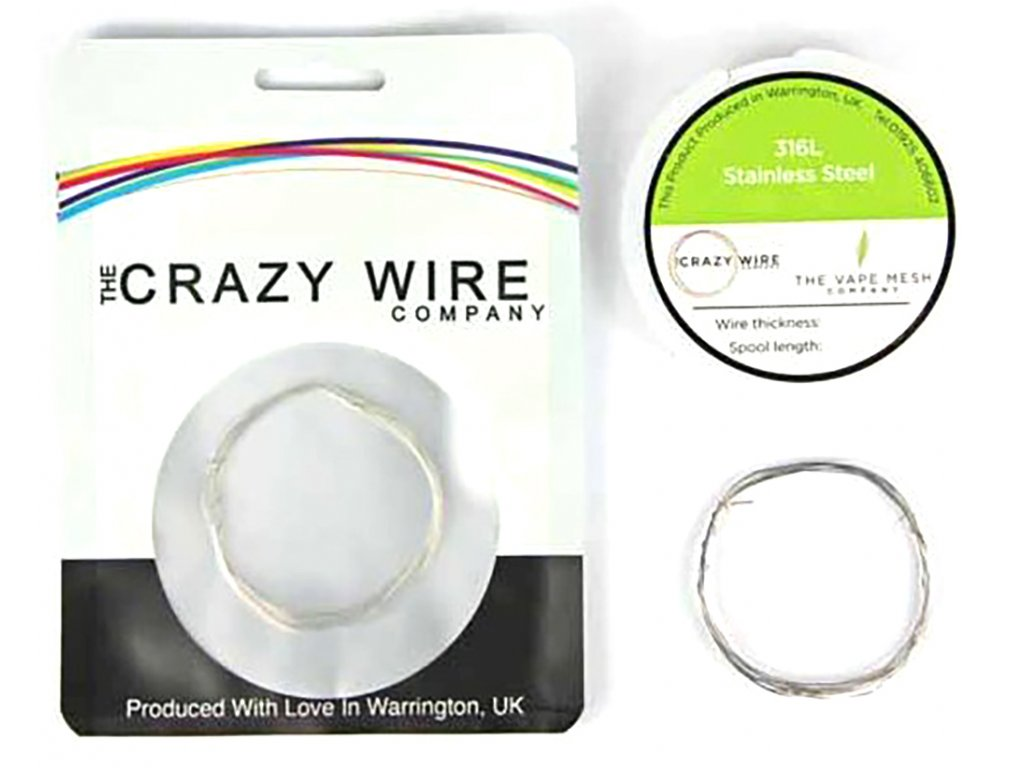 10919 1 the crazy wire ss316l nerezovy odporovy drat 10m 34ga 0 16mm