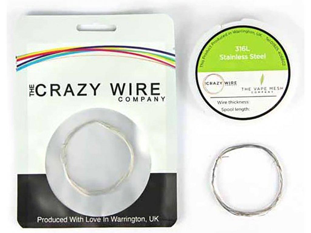 10922 1 the crazy wire ss316l nerezovy odporovy drat 10m 29ga 0 315mm