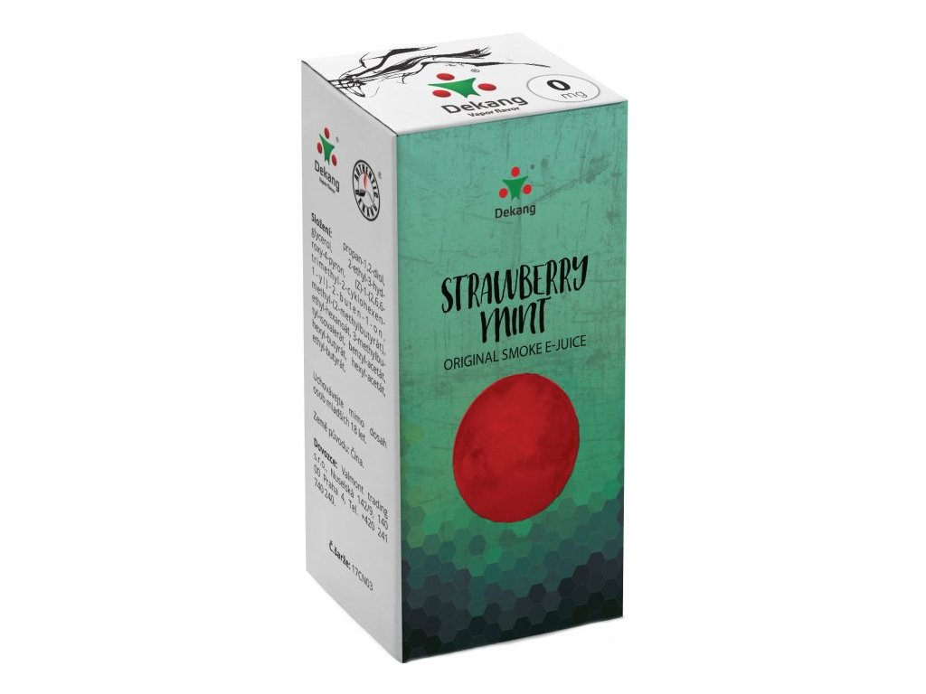 e-liquid Dekang Strawberry Mint (Jahoda s mátou), 10ml