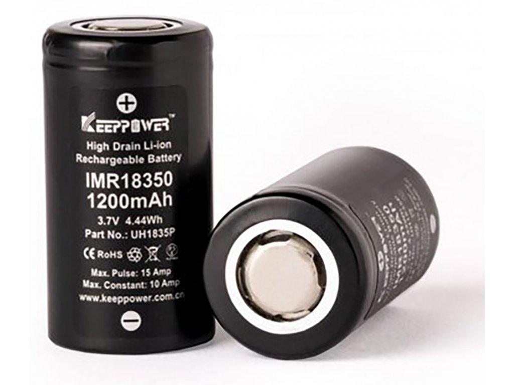 13655 1 baterie keeppower imr 18350 1200mah 10a