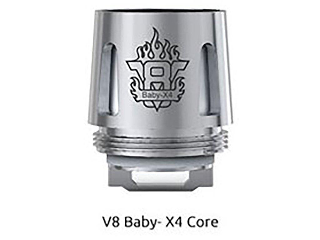 3839 1 smoktech x4 core tfv8 baby zhavici hlava 0 15ohm 1ks