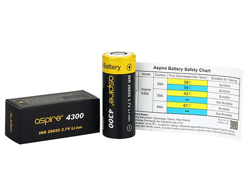 4373 1 baterie aspire inr 26650 40a 4300mah