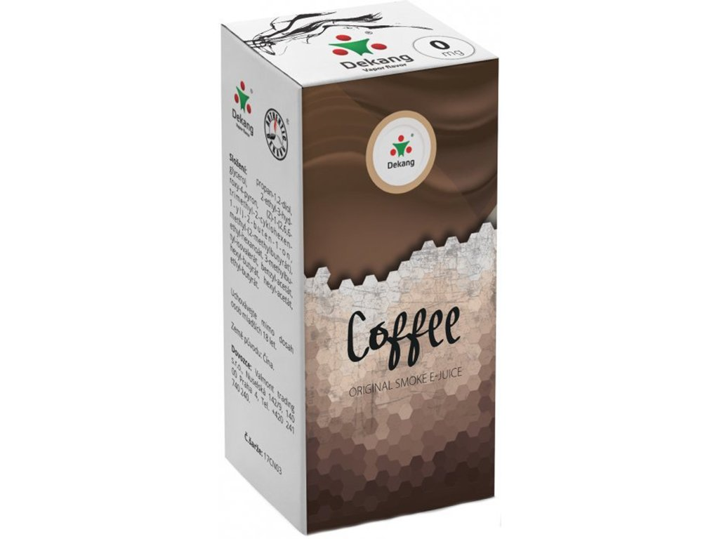 e-liquid Dekang Coffee (Káva), 10ml - 0mg nikotinu/ml