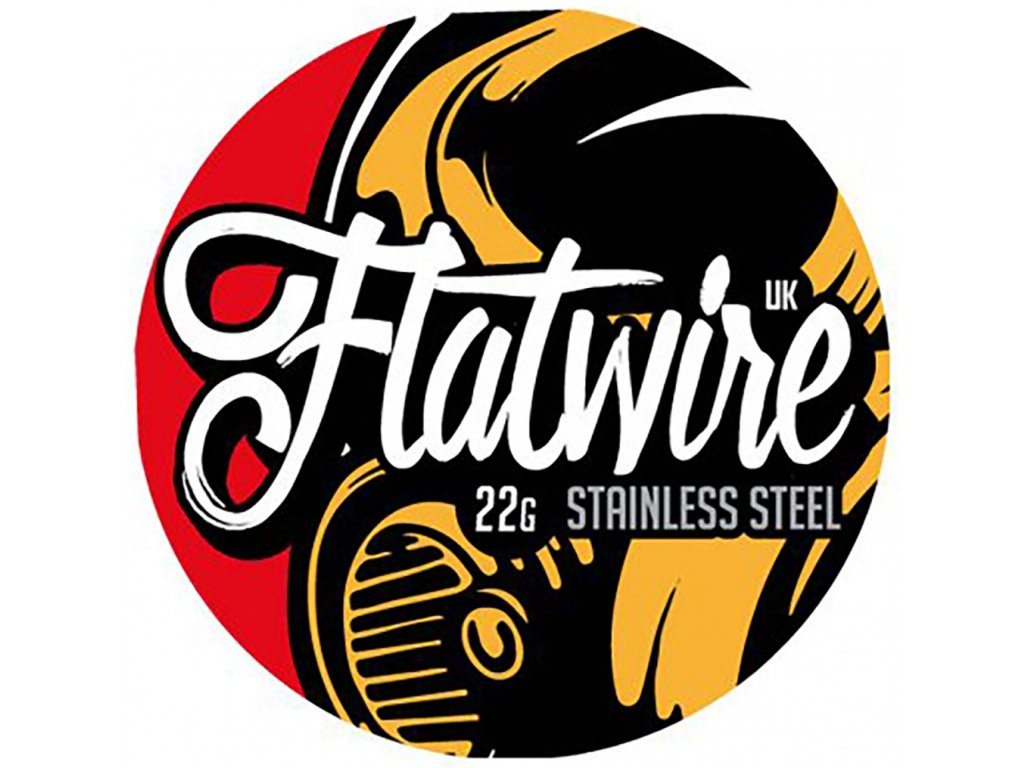 7757 1 odporovy drat flatwire 22g stainless steel 3m
